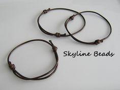 3 Korean Cotton Wax Cord Bracelet  Adjustable  by SkylineBeads, $1.85
