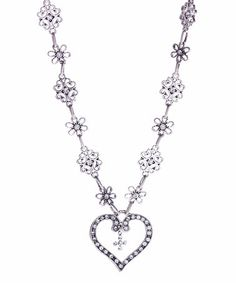 Another great find on #zulily! Crystal & Silvertone Heart Cross Pendant Necklace #zulilyfinds
