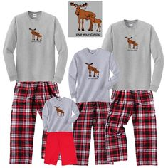 Holiday Matching Family Pajamas    Moose Tangles in Christmas Lights 6ffe20d58