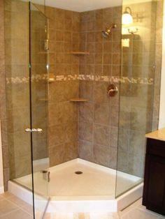 hardwood master bedroom with custom porcelain bathroom south jersey oak andu2026 - Corner Shower Stalls