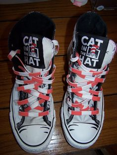cc307b3c711f Adult Converse Chuck Taylor Dr Seuss Cat In The Hat Hi Top 6 Wmns   4 Mens…