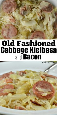 This potato kielbasa soup recipe is full of crispy sausage pieces and potato chunks! It's a hearty and cheesy soup, perfect for lunch or dinner. Kielbasa Soup, Kielbasa And Cabbage, Baked Cabbage, Cabbage And Potatoes, Cheesy Potatoes, Cabbage Soup, Cabbage Rolls, Cabbage Recipes, Broccoli Recipes