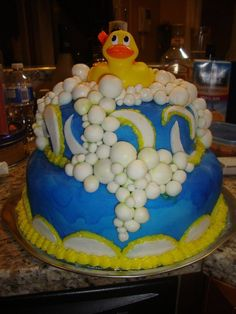 Baby Shower Cake!  #babyshower #bubbles #babies #baby #celebration #party #cake #babyshowerideas