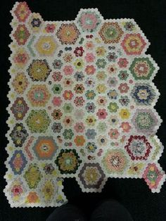 Hexagon Quilt in progress