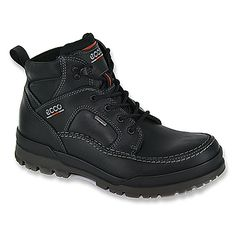 $165 ECCO Track 6 GTX® Plain Toe Boot | Men's - Black Pull Up/Nubuck - FREE SHIPPING at OnlineShoes.com