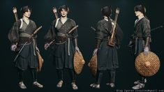 ArtStation - Oleg Egorov's submission on Feudal Japan: The Shogunate - Game Character Art (real-time) Submission, Game Character, Challenges, Japan, Games, Gaming, Japanese, Plays, Game