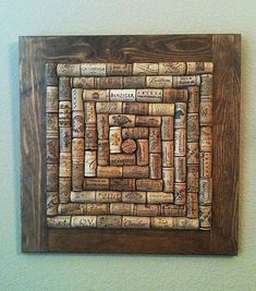 Wine Cork Board medium stain - FREE SHIPPING