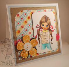 Heather's Hobbie Haven - Free Hug Card Kit ~ SC Spectacles on Sarah