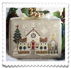 Hometown Holiday - Town Church - Cross Stitch Pattern