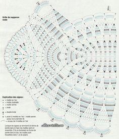 Овальная салфетка крючком. Схема