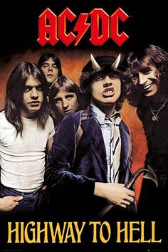 Highway to hell Rock Posters, 80s Posters, Rock And Roll, Pop Rock, Ac/dc Poster, Poster Prints, Rock Album Covers, Music Album Covers, Book Covers