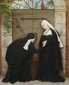 La Porte des Rêves - 'Nuns under Threat' byItalian Painter Eugene de Blaas 1843-1932
