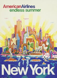 New York was one of the most popular destinations featured in the adverts in Airline Visual Identity 1945-1975