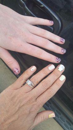 Jamberry nail art manicure pedicure designs - NAS nail art studio hello kitty inspired, whisper over polish