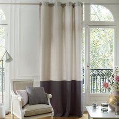 Cortinado bicolor em tecido pré-lavado, AGURI La Redoute Interieurs