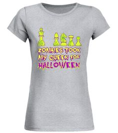 22fb4ddf2 Funny Halloween Chess Gift Tshirt, Zombies Took my Queen . Special Offer,  not