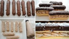 Falešné Eclair s pařížskou šlehačkou Czech Recipes, Ethnic Recipes, Eclairs, Mini Cakes, Christmas Cookies, Treats, Food, Sweets, Essen
