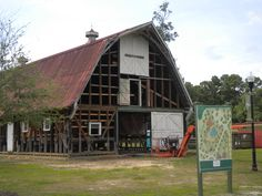 The iconic Green Barn will serve as the centerpiece of the future amenity at Carnes Crossroads.