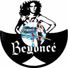 Reloj De Pared En Disco De Acetato,o Lp Beyonce