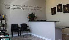 Love the idea of the mission statement on the wall like this.  It would be a constant reminder!