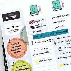 ahhh, this looks rad, @scrappinlove ❤️ always fun to see how you make #gettoworkbook work for you. Studio Calico, Smash Book, Work On Yourself, Planners, How To Plan, Erin Condren, Happy Planner, Planner Stickers, Instagram Posts