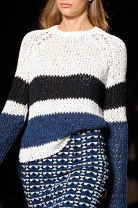 Chunky stripe sweater - Les Copains