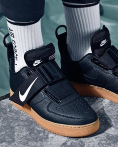 Shop Women's Nike Black White size 6 Sneakers at a discounted price at Poshmark. Description: Nike air force 1 utility sneakers New with box, without lid Size women's Sold by tastycloset. Jordan 23, Air Force 1, Nike Air Force, Sock Shoes, Shoe Boots, Air Max 93, Baskets Nike, Nike Af1, Fresh Shoes