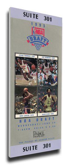 1993 NBA Draft Canvas Mega Ticket - Webber, Hardaway, Mashburn