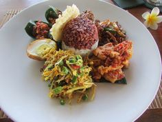 Typical selection of Balinese food