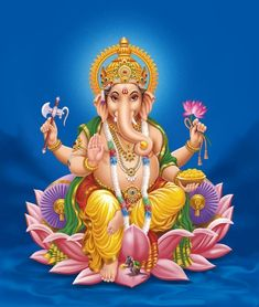Ganesha is one of the famous and greatly worshiped deities in Hinduism. The main identity of Lord Ganesha is his elephant like head. It is known that Vinayaka is the eldest son of Lord Shiva and Goddess Parvati. Shri Ganesh, Jai Hanuman, Ganesh Statue, Ganesha Pictures, Ganesh Images, Krishna Images, Ganesh Wallpaper, Pintura Ganesha, Spirituality