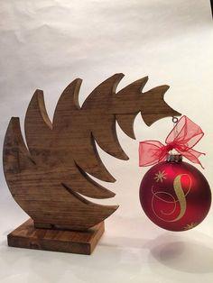 Weihnachtsbaum Ornament Hanger - Weihnachtsschmuck Halter - Weihnachts-Display-Ständer - Holz