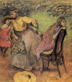 Madame Alexis Rouart and Her Children ,c.1905 , by Edgar Degas