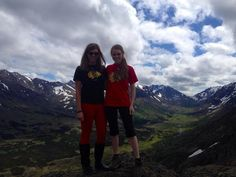Twitter fan @knightjl19 and friend show their Blackhawks pride in Alaska. #IsItOctoberYet