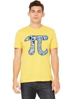 Pi Symbol, Paisley Flourish Pattern Tshirt