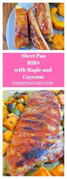 sheet pan ribs hero with maple and cayenne Sweet Savant.com America's best food blog