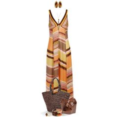 """""""Maxi Dresses Go With the Flow"""" by angela-windsor on Polyvore"""