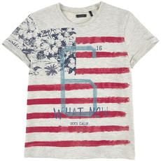 Ikks - Tee-shirt en jersey de coton chiné - Ecru - 115555