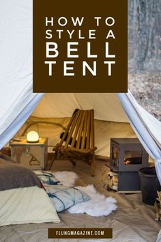 Everything You Need for Perfect Bell Tent Decor Camping has reinvented itself and has become more appealing to . Bell Tent Glamping, Yurt Tent, Tent Campers, Camping Glamping, Luxury Camping, Outdoor Camping, Camping Ideas, Tents, Camping Trailers