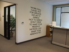 Imannuel Kant could' Office Wall Design, Office Wall Decor, Office Walls, Office Interior Design, Office Art, Office Style, Office Designs, Interior Designing, Motivational Quotes