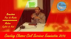 Paradigm academy: Weekly UPSC Seminar in Pune & Mumbai