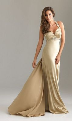 gold halter prom dress by night moves dresses+Lace+Evening+Pr om+Dresses+are+fully+lined,+8+bones+in+t...