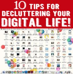 Great tips for decluttering your digital life | One Good Thing by Jillee