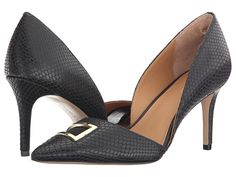 Calvin Klein 'Gerica' Black Classic Snake Pumps, on sale here: rstyle.me/~7A53q
