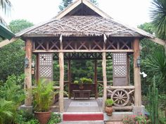 I hope my next home is a nipa hut! Filipino Architecture, Tropical Architecture, Hut House, Tiny House Cabin, Farm House, Bamboo House Design, Modern House Design, Zen Interiors, Bahay Kubo