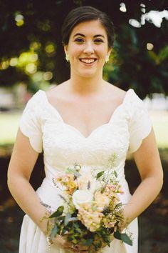 Gorgeous happy #bride   b. flint photography