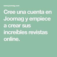 Cree una cuenta en Joomag y empiece a crear sus increíbles revistas online. Free Books, Get In Shape, Recipe Books, Create, Short Stories, Journals, Healthy Meals