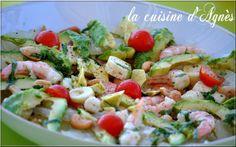 Salade avocat crevettes pomélo, Recette Ptitchef