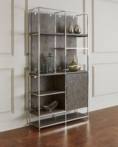 Shop Astoria Stainless Steel and Wood Bookcase from Hooker Furniture at Horchow, where you'll find new lower shipping on hundreds of home furnishings and gifts. Hooker Furniture, Home Office Furniture, Kitchen Furniture, Rustic Furniture, Bedroom Furniture, Modern Furniture, Small Furniture, Furniture Deals, Furniture Outlet