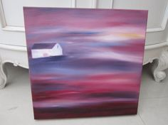 Horizon House oil painting original painting by AngelAtMyEasel