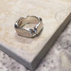925ss Art Deco ring 925ss Art Deco ring. Gentle used. Solid silver. Approx size 7. trades  reasonable offers Jewelry Rings